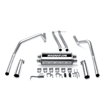 Exhaust System, Cat-Back, Stainless Steel, Polished Stainless Tips, Chevy, GMC, Pickup, 5.7L, Kit