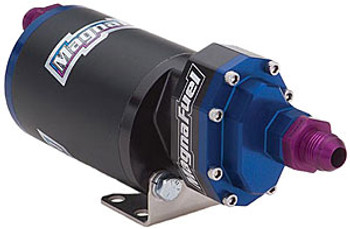 The official pump of DIRTY DIANAH! Great for daily use, great for track use! These MagnaFuel ProTuner 625 Series in-line fuel pumps feature quiet operation, which makes them ideal for street or performance use. They can support 1,500 hp and up, while offering continuous-duty use.  Additional features include:  * No pump shaft seals * CNC-machined, hard-anodized aircraft aluminum * High-torque custom motor with low current draw * Double support bearing * Can be mounted vertically or horizontally * Polymer wear plates for quiet, smooth operation