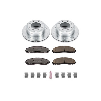 Brake Rotors/Z36 Pads, Drilled/Slotted, Iron, Zinc Plated, Rear, Ford, Kit