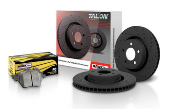 Brake Rotor and Pad Combo Talon Street Rotor & Brake Pad Kit Cross Drilled and Slotted w/ Performance Ceramic Pads Kit