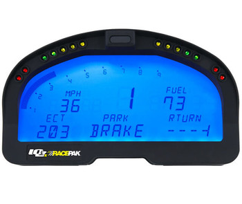 Street Instrumentation Has Never Been Easier! Racepak combines high-performance digital instrumentation with the indicators and warnings of a street dash into a compact and versatile product. Based on a rugged, race-proven design, the IQ3S street dash offers the easy to install convenience of a single unit, while capable of interfacing with over 20 aftermarket EFI systems, OBD2 or up to 32 standalone remote sensors. Instrumenting your street vehicle has never been easier. Racepak's IQ3S street dash solves all your high performance street instrumentation needs. Whether your latest project car is a late model engine swap, after market EFI equipped or traditional carburetor and distributor, the IQ3S street dash offers the easiest and most compact method to add late model digital instrumentation with the required street legal indicators, to your vehicle. If you are looking to monitor additional information, Racepak's complete line of high performance motorsports style sensors can be easily connected to the rear of the IQ3S street dash, via Racepak's revolutionary plug and play, single cable V-Net sensors. Compatible With 20+ EFI Systems Easily stream and display information from over 20 aftermarket EFI units, to the IQ3S street dash via the optional EFI harness, while the included PC programming cable allows for complete display customization. OBD2 Equipped Engines Displaying information from 2008 and later OBD2 engines is a snap, with Racepak's optional OBD2 harness. Customize the IQ3S street dash with your choice of OBD2 information, utilizing a laptop and included programming cable. Carbureted Engines Standard ignition and carbureted engines can display data through the use of one pressure and two temp sensors included with the IQ3S street dash. Additional sensors available from Racepak. Features: Turn, High Beam, Park Indicators Odometer, Speedometer Fuel Level Oil Pressure Coolant Temperature Transmission Temperature Optional GPS Speed Inputs Internal input for OBD