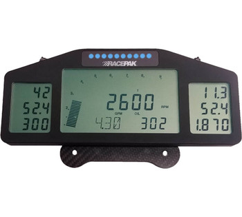 "The Pro III Dash is one of the more exciting and useful products to be introduced into data acquisition. It is both a driving instrument and a tuning tool. Although it is more frequently seen in the cockpit of many high profile dragsters it can be mounted anywhere, and it is used more by the crew chiefs than the drivers. The Pro Dash is designed for use with the Pro series data recorders. The Pro Dash will display any function that is being monitored by a Pro III or Pro IIIA data recorder. Up to 36 different functions, in addition to the ever-present RPM bar, can be displayed on its three individual screens. Four sets of programmable displays allow the user to scroll between displays and view only those functions he needs. Commonly monitored items for display include engine RPM, EGT's, fuel flow, pressures, ignition timing, boost, and temperatures.  The Pro III Dash features a row of LEDs which can be programmed to function as either a stage/shift light or as four different programmable warning lights. The RGB design of the LEDs allows multiple colors to differentiate between functions or warnings.  Dimensions for the Pro Dash are 3.800"" tall x 9.385"" wide x.0625"" deep. Total weight is a mere 17 ounces including its carbon fiber mount. It is backlit for nighttime use. Unlike the original Pro Dash, this unit connects to a Pro III or Pro IIIA system using a 5-pin Autosport cable"