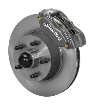 Disc Brake Kit, Classic Dynalite, Front, Solid Rotor, Gray 4-Piston Caliper, 5 Lug Vehicles, Ford, Kit