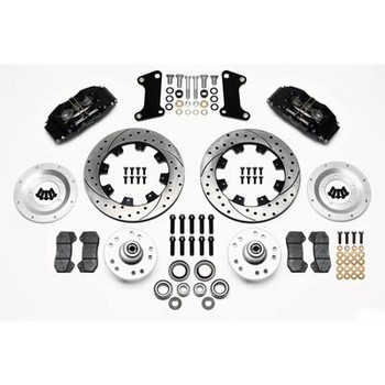 Disc Brakes, Classic Series Dynalite, Front, Solid Surface Rotors, Gray Calipers, Ford, Mercury, Kit
