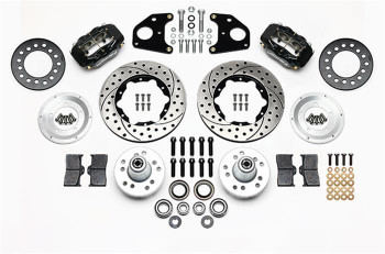 Disc Brakes, Dynalite Pro Series, Front, Manual, Cross-drilled Surface Rotors, 4-piston Calipers, Dodge, Kit