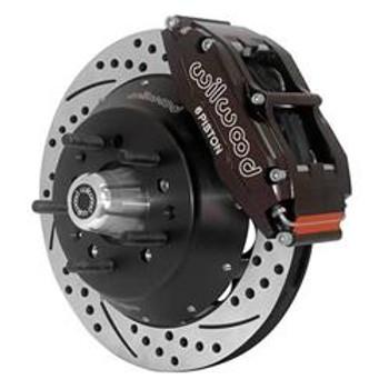Disc Brake Kit, Superlite 6 Big Brakes, Front, Slotted/Drilled Rotor, 6-Piston Caliper, Black, GM, Kit
