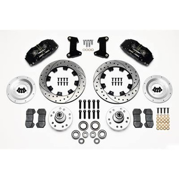 Disc Brakes, DynaPro 6, Big Brakes, Front, Slotted/Drilled Rotor, 6-Piston Caliper, Black, Ford, Mercury, Kit