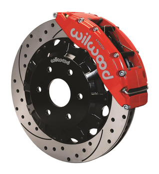 Disc Brakes, Front, Dynalite Pro, Cross Drilled/Slotted Surface Rotors, 6-Piston Red, Calipers, GM, Kit