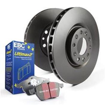 Brake Rotors, Stage 1 Premium Street, Black Geomet Coated, Aramid Fiber Pads, Front, for use on Honda®, Kit