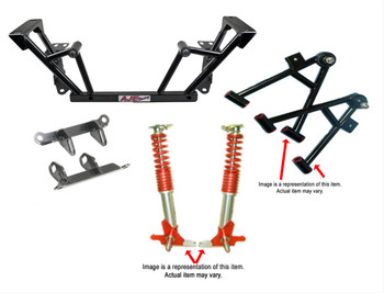 K-Member, Steel, Black Powdercoated, Control Arms, Coilover Conversion, Springs, Motor Mounts, Ford, Kit
