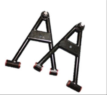Tubular A-Arms, Steel, Black, Front Lower, Ford, Pair