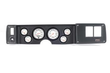 Gauge Panel, Thunder Road, Black Panel, AutoMeter Phantom, Chevy, Kit
