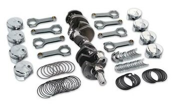 Engine Rotating Assembly, Competition, Steel Crank, Forged Pistons, I-Beam Rods, Chevy, 408 Small Block, Kit