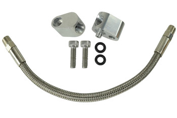 Whether you are replacing a rusted crossover pipe or doing a head swap, ICT Billet coolant crossover kits help increase the flow of coolant through the engine block, reducing engine temperature. They are made from aerospace-grade billet aluminum with a natural finish. By increasing the flow of coolant in the block, thereby reducing engine temperature, you can eliminate hot cylinders and detonation.