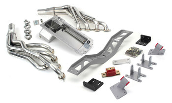 """Hello Lexus Guys!. Get your SC300/SC400/Soarer on the road daily - get your project on the road with this swap kit!   This swap kit is for 91-2000 Lexus SC/Toyota Soarer. This kit replaces the frame brackets in addition to the mounts so you'll have clean mounting of your engine and not a mix of parts that are weak and don't work together properly. The frame brackets bolt into existing holes in the frame and locates the engine to give you the most options for front accessories drives. Unlike others, our kit positions the engine so there is no steering interference and maintains the proper drive-line angle for smooth highway cruising. It provides clearance for the factory AC box, power brake booster, and aftermarket suspension components.  Optional headers that give unparalleled performance and ground clearance with sizes that are matched to your engine combo. These combined parts offer an easy, strong, and clean installation of your LT engine.   This kit includes the following:  Mount and Crossmember Kit  Includes motor mounts, frame brackets, transmission crossmember, transmission mount, and hardware.  Manufactured from the highest grade American made steel. They're laser cut, precision bent, powder coated and feature polyurethane bushings.  Comes with a lifetime free replacement warranty on the bushings.  64-72 C10 Truck LT Conversion Kit  LS Oil Pan kit  The oil pan our kit was designed around. Comes standard or machined for the oil bypass valve for use with displacement on demand or variable valve timing. Includes new full length windage tray, pickup tube, hardware, gasket, dipstick, and our pickup tube girdle.  LT engine series Conversion Oil Pan   ----------------------------------------------------------------------------------------------------------------------------  Optional LS Swap Headers   LT Series 1 7/8"""" SS Long Tube Headers  This kit does not include headers. Click on the dropdown to add the ceramic coated Headers"""