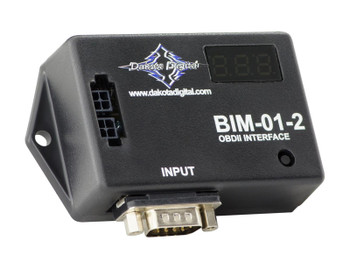 Dakota Digital OBD-II/CAN interfaces are designed to plug directly into your engine's diagnostic port, extracting transmission data from the OBD-II computer. They can output speed, rpm, and engine temperature. The interfaces decode the information supplied from the ECM and supply this information to the VFD3 rev. G, VHX and HDX control box instruments.
