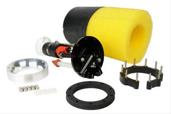 Fuel pump, Electric, Phantom 200, In-Tank, 90 psi, 200 lph, Gasoline. These systems are designed to add a whisper-quiet internal pump to your stock tank that is capable of delivering enough fuel to feed your fuel-injected street rod or musclecar, even in tanks as shallow as 6 inches! Your kit will come with an in-tank fuel pump plus an internal baffle system to control fuel slosh and keep the pump submerged. Make the stealthy switch to Aeromotive Phantom 200 fuel systems and take advantage of modern technology in your classic ride.