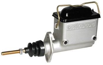 "These Wilwood lightweight aluminum master cylinders provide reliable stopping power for drag race cars, late model stock cars, and off-road vehicles. They utilize standard OEM internal components for dependable performance at an affordable price. They are available with or without large-capacity plastic reservoir and dual outlet bores for responsive performance. 3/4""bore."