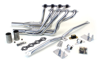 1973-77 A-Body LS Conversion Kit This swap kit is for the 1973-1977 Chevelle, Monte Carlo, Laguna, Grand Am, Can Am, Le Mans & Cutlass. It was designed around our CTS-V oil pan kit. The frame brackets bolt into existing holes in the frame so you know the engine will have clearance for accessory drives, factory AC box, power brake booster, and aftermarket suspension components. Unlike others, our kit positions the engine so there is no steering interference and maintains the proper drive-line angle for smooth highway cruising. We offer a complete line of  headers that give unparalleled performance and ground clearance with sizes that are matched to your engine combo. These combined parts offer an easy, strong, and clean installation of your LS engine.
