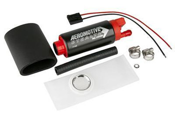 Aeromotive Stealth electric fuel pumps are designed to provide your ride with the fuel it needs to own the roads or the track. Aeromotive Stealth electric fuel pumps feature a compact, lightweight design that will bolt into most existing hanger assemblies, making them an easy upgrade to your fuel system. These versatile fuel pumps utilize a turbine pumping mechanism that increases durability and can be used in most pulse modulated applications. Don't settle for lesser fuel pumps; feed your engine with Aeromotive's Stealth fuel pumps.  Free Flow Rate:340 lph Maximum Pressure:90 psi Inlet Size:Stock Inlet Quantity:One Inlet Attachment:Stock Outlet Size:Stock Outlet Quantity:One Outlet Attachment:Stock