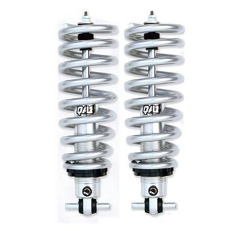 These QA1 Pro coil-over systems are engineered from the ground up to offer unmatched performance over stock suspension setups. Pro coil-over systems utilize adjustable and non-adjustable coil-over shocks and springs, designed specifically for replacing the factory shocks and springs. This combination offers ride height adjustment and variable position valving adjustment (where applicable) for performance not found in other kits. Choose these QA1 Pro coil-over systems for your next suspension upgrade.  Suspension Height Adjustment:0.0-2.0 in. lowered front Coil-Over Kit Position:Front Recommended Front-End Weight:1,701-1,800 lbs. Shocks Included:Yes Adjustable Valving:Yes Internal Design:Twin-tube Gas Charged:No Number of Valving Selections:18 Extended Length (in):14.000 in. Collapsed Length (in):10.130 in. Threaded Adjustment Range:3.000 in. Upper Mount:Stud Lower Mount:Bar pin