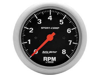 These Sport-Comp series tachometers are the trademarks of the entire AutoMeter line. With rugged race styling and unmatched performance, they have been in more winning vehicles than any other gauge on the market today.