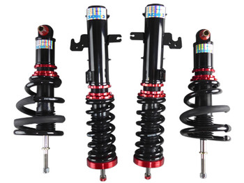 Damper CoilOvers Suspension Kit for 13+ Chevrolet Camaro  Mono-Tube, Top Mount, 32 Step Damper & Ride Height Adjustable  Street Sport Spring Rate: Front 8kg(447 lb/in) / Rear 12KG (670 lb/in)  Highlights:  - 32 Step Damper Adjustable - Precise control damp valve, Operates smoothly on all road surfaces - Expansion/Suppression of shock adjustment - Height and low adjustable, Superb road holding qualities and great looks - Single Cylinder, or Mono-Tube Design, with Larger cylinder and piston design, advances driving stability and dexterity - ARTC Durability Test & Salt Spray Fog Test, Guaranteed with Top Quality Material and Long Durability