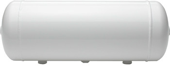 "ACCUAIR 3-GALLON ALUMINUM TANK W/ WHITE FINISH  Powder Coated White  6.78"" x 19.10"" with (1) 1/8"" PORTS,  (4) 1/4"" PORTS  & (2) 3/8"" PORTS  Aluminum tanks are lightweight and corrosion resistant. These units are extruded and 100% TIG welded for maximum quality. The 5-gallon option gives adequate air storage for typical vehicles with 4-Corner Air Suspension (Many will use (2) of these 3-gallon tanks instead). On some lightweight vehicles a single 3-gallon tank can offer adequate air storage.   100% T.I.G. WELDED ALUMINUM  Aluminum construction makes for a light weight, non-corrosive air tank. High quality T.I.G. welds guarantee 100% sealing and a beautiful appearance.  DRAIN PORT  A 1/4"" NPT drain port at the center of the tank allows for occasional moisture draining.  SEAMLESS CONSTRUCTION  Extruded aluminum tank cylinders eliminates the common seam along the length of the tank. This allows our EXO Mount clamping system to fit around the tank at any location."