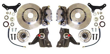 McGaughy's produces tough, high quality front disc brake kits that are done right the first time. McGaughy's brake kits will help to decrease stopping distance, while improving brake pedal feel. They include new rotors with bearings, seals, calipers, drop spindles and brake hoses.