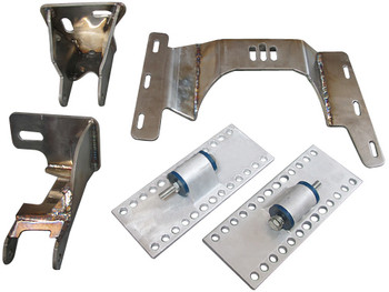 Now you do not have to be left out of the best kept secret for your baby! Your BIMMER deserves the best! German engineering mixed with reliable, affordable American Muscle! How can you go wrong?  This kit is designed to work perfectly with your e36 BMW 3-series chassis. This kit includes the following:  Motor mounts Transmission crossmember Oil Pan Headers