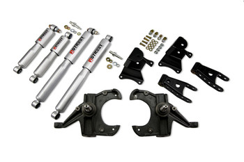 "Belltech Lowering Kits With Street Performance Shocks Stage 3 complete solution with Street performance shock absorbers  73-87 Chevrolet C10 (1"" Rotor) 3"" F/4"" R drop W/ Street Performance Shocks Please specify your vehicle to get more details and see if that product will work for you!"