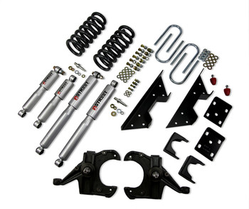 "Belltech Lowering Kits With Street Performance Shocks Stage 3 complete solution with Street performance shock absorbers  73-87 Chevrolet C10 (1"" Rotor) 4"" F/6"" R drop W/ Street Performance Shocks Please specify your vehicle to get more details and see if that product will work for you! Click for more info..."