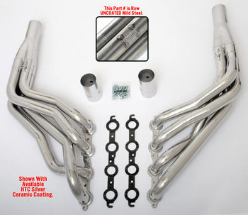 "These Headers are designed specifically for installing an LS engine into 1967-98 Chevy/GMC 1/2 Ton Trucks and SUVs (C10, C15, C1500, R10, R1500 trucks, Suburbans, Yukons and Tahoes), and are available in a variety of tube lengths and diameters. ALL MUSCLE RODS HEDDERS are available in uncoated mild steel, or with Hedman's original HTC or Husler's NEW BLACK MAXX Ceramic Coating. These headers will work with our LS Swap kits.  These headers are 1 3/4"" long tube and uncoated."