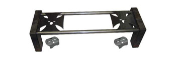 "Complete 8-piece notch with crossmember mounting holes. (2) 44"" x 1.5"" round crossmembers. 1/4"" iron cross upper bag plates can be welded on top or under the bars. Lower axle brackets also included."