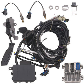 Chevrolet Performance LS7 engine controller kits are calibrated to run your 2007-2013 LS7 crate engines. These module and harness kits are designed for easy plug-and-play installation, and are inclusive for all components needed to get your LS-family engine running.  These Chevy Performance kits include:  * Controller * Engine harness * Mass airflow meter and mounting boss * Accelerator pedal assembly * 2 oxygen sensors and bosses * Instruction sheet