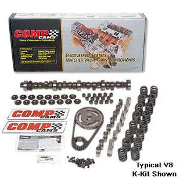 COMP Cams Xtreme Energy cam and lifter kits are built to take advantage of the latest cam technology and provide maximum performance. This cam kit is what you need if you are going to turbocharge your LSx drivetrain!  Hydraulic roller tappet cam with a basic operating range of 2,200-5,800 RPM. Intake Duration at 050 inch Lift:230, Exhaust Duration at 050 inch Lift:236.  Intake Duration at 050 inch Lift:230 Exhaust Duration at 050 inch Lift:236 Duration at 050 inch Lift:230 int./236 exh. Advertised Intake Duration:282 Advertised Exhaust Duration:288 Advertised Duration:282 int./288 exh. Intake Valve Lift with Factory Rocker Arm Ratio:0.510 in. Exhaust Valve Lift with Factory Rocker Arm Ratio:0.510 in. Valve Lift with Factory Rocker Arm Ratio:0.510 int./0.510 exh. Lobe Separation (degrees):110 Grind Number:XR282HR  Includes: lifters, valve springs, pushrods, retainers, locks, valve stem seals, double roller timing chain and gears.  Suggested items: Assembly Lubricant, Rocker Arms and Gaskets