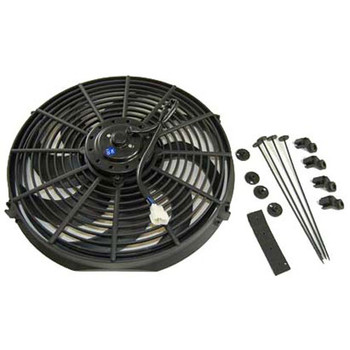 These Extreme Performance 12-volt Electric Fans offer the most flow and fan area of the entire RPC line. Their additional motor power creates a nice, flat airflow curve with more flow at greater static pressure.  Buy a pair of these and keep your LS cool in traffic or on the highway!