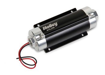 Holley's HP™ In-Line Billet Fuel Pumps are designed to be the perfect companion to your carbureted or fuel injected race car, off-road truck or any engine needing fuel! The HP™ fuel pumps feature OEM gerotor technology which yields lightweight, quiet operation and 100,000+ mile durability in a cost effective, attractive package. The 12-600 features improved hot fuel handling capabilities and was designed to greatly reduce the negative effects of heated fuel now common with many of today's pump gas blends. It is compatible for use with pump gas or race gas. If you are using E-85 or diesel, no need to worry, Holley has still got you covered with the 12-890 fuel pump. HP fuel pumps work well on the street or in racing applications with up to 18.5 volt charging systems and 80 psi.