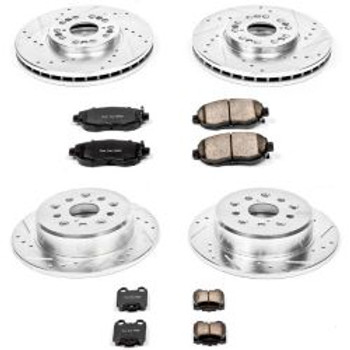 92-04 S10 Front/Rear X-Drilled Disc Brake Kit