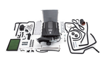 Do you want bolt on horsepower? Now you can add this to your LS Swapped vehicle with 4.8/5.3/6.0/6.2 from 2003-2006. As with anything custom, you may need to make some modifications to your hood (cowl), depending on what you are putting it into. But it will definitely look sweet under the hood, and when you stomp on the gas!  Edelbrock E-Force GM truck or SUV supercharger systems boost the power in your late model vehicle. These E-Force Supercharger systems are specially designed for each application and will give you more horsepower and torque to boost your performance to impressive levels.