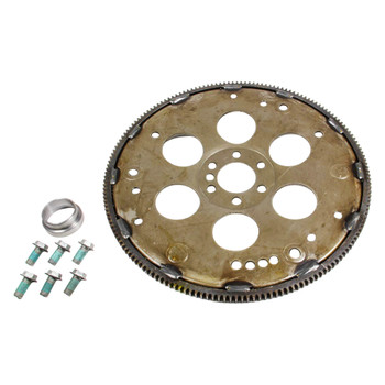 "Now you can connect your LSx to your TH350/700R4!  This custom flex plate kit is designed to adapt the Gen III / LS series to the GM TH350, and 700R4 transmissions. The kit includes a flexplate, 11mm flex plate bolts, crank spacer.  Gen III/LS Engines  The new style Gen III/LS series engines (4.8, 5.3, 5.7 LS1, 6.0, 6.2) all have the same crank stick out which is .400"" closer to the block than the standard Gen 1 & Gen2 Chevy V8. The Gen III / LS series crank bolt pattern is different than any other GM crank as to the bolt pattern on the flex plate. Only Gen III/LS series flexplates fit these engines!!!  Since a Gen III / LS series flexplate only fits a Gen III / LS series and the engine crank is recessed .400"". There are a few unique things about the torque converters that bolt to the flexplate. The spacing of the flexplate from the back of the block is the same as early GM blocks. The flexplate is dished out .400"" to compensate for the crank. The differences come into play as to the bolt pattern of the torque converter to the flexplate and the snout length of the torque converter."