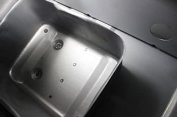 Baffle inside your tank prevents slosh, and ensures steady fuel to your motor