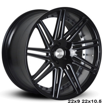 "Now you can ""sexify"" your vehicle with these BEAUTIFUL concave wheels from RoadForce! Priced per wheel. Order them staggered if you want to have that DEEEP concave look in the rear.  Available Sizes: 22x9, 22x10.5 - 5x112 - 5x114.3 -5x120 - Gloss Black Face  They are TPMS Compatible! Order yours today!"