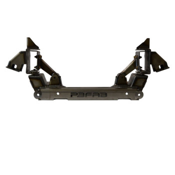 """The Version 7 Dropmember Front suspension system is designed to replace the factory cross-member and steering system. It is engineered as a modular bolt-in unit that requires no welding.   ALL DROPMEMBER KITS INCLUDE MOTOR MOUNTS, SHOCK RELOCATE BRACKETS AND RACK & PINION HARDWARE.  ONLY AVAILABLE IN THE LEVEL 1 MILD OR LEVEL 3 EXTREME.  Level 1 When combined with a 2.5"""" drop spindle and 28"""" tall tire, the Level 1 Front will set the lowest point of the factory frame rails approx. 3"""" off the ground when fully deflated.  Level 3 When combined with a 2.5"""" drop spindle, 29"""" tall tire, the Level 3 Front will set the lowest point of the factory frame rails on the ground when fully deflated."""