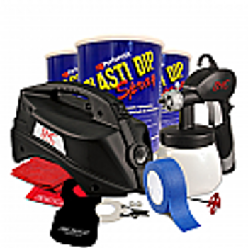 This is the kit used when a professional finish is desired to Dip your small car. This Kit comes with the DYC DipSprayer™ System, 3 Gallons of Rubber Dip Spray (ready to spray) , 1 roll of Blue Tape, a DipWasher®, 2 DipYourCar.com Decals, a mixing stick, 1 Dip Guard, Paint Stirre...