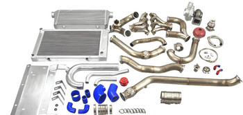 "Single Turbo Header Downpipe Intercooler Radiator Kit for 68-72 Chevelle/Cutlass  Supports up to 1000 HP (with Built Motor and Upgraded Fuel System) Turbo Header Kit Is Designed to Fit Aftermarket AC and Alternator Brackets that Mount These Accessories High on Both Left and Right Corner  Single Turbo Header Kit, with T76 Turbo 0.81 AR Exhaust Housing and 44mm V-band Wastegate (8 PSI) Intercooler and Radiator Kit, with Mounting Brackets and Radiator Hard Pipe Kit Intercooler Piping Kit and BOV 3"" Turbo Downpipe  Kit includes:  T76 Turbo Charger, 0.81 AR Exhaust Housing x1 Turbo Header Downpipe Kit x1 60MM 12Psi V Band Wastegate x1 T4 to 3"" V-Band Cast Turbo Elbow Adapter x1 Oil Filter Sandwich and Oil Line Kit x1 Set of Vband Clamp x1 Intercooler, with Mounting Brackets x1 Aluminum Intercooler Piping Kit x1 Set of Silicon Hose x1 Set of Clamp x1 Blow Off Valve x1 Mushroom Air Filter x1 3 Row High Performance Aluminum Radiator, with Radiator Hard Pipe Kit x1 Chevelle LSx Engine Mount Kit, If Using Different Engine Mount, Fitment Might Be Off and Modification Might Be Needed.   Downpipes DO NOT fit factory transmission crossmember, you will need to use our transmission mount.  All Products Are Developed from The Ground up in Our R&D Center Based in The USA."