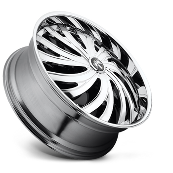 "DUB Spinners are available from 22"" - 32"" with custom finishing options. NEW DUB ""Stunnrz"" Spinners come standard with our new 2-piece staggered directional base wheel, the Dazed. ""Stunnrz"" are available in the following staggered sizes and specs: -24x9, 24x9, 26x9, 26x10, 28x9, and 28x10."