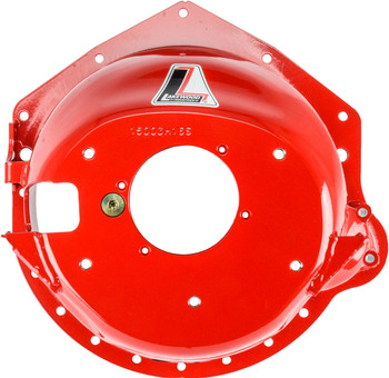 """Minimize the Destructive Effects of a Clutch/Flywheel Explosion  Manufactured from premium 1/4"""" steel, Lakewood Bellhousings utilize hydroforming. This hydraulic forming process minimizes the thinning of the bellhousing's material while maintaining proper thickness in critical areas. Units are stress relieved after forming for even greater strength and then finished with a safety red enamel.  Tested to meet or exceed SFI Specification 6.1W when used with an approved block plate, Lakewood Steel Bellhousings are designed to contain a clutch or flywheel explosion with possible deformation or elongation of the housing. All bellhousings include the block plate and an SFI Spec 6.1W serial number.  Features  For passenger vehicles as noted Hydroformed steel yields a uniform 1/4"""" thickness Precision drilling guarantees proper bolt hole spacing Blanchard ground mounting surfaces provide exact engine-transmission alignmentLakewood 15003LKW MIG welded thread inserts for transmission bolt pattern and clutch adjustment pivot ball Block plate included (units predrilled for full-containment block plates) SFI specification accepted by most major race sanctioning bodies Heavy-duty clutch linkage brackets where required"""