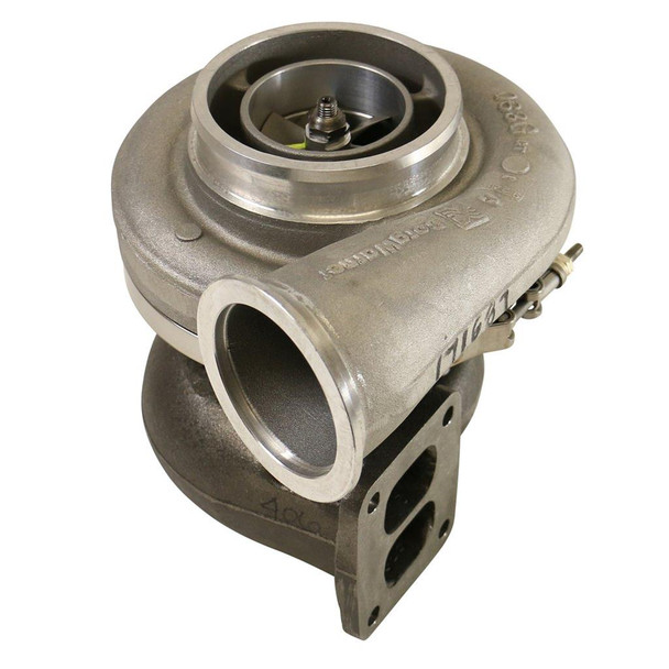 BorgWarner AirWerks turbochargers are designed to create reliable and consistent boost, while reducing emissions and enhancing fuel efficiency. These turbochargers, including the popular BorgWarner S475 and S480 turbos, are purpose-built, utilizing extended-tip technology and a high-efficiency turbine stage. This configuration provides ultra-fast response and more than 70 psi of boost! BorgWarner AirWerks turbos offer faster spool-up at lower engine speeds, while providing powerful top-end for the boost for in performance you desire. Compressor Wheel Inducer Size: 66.11mm  Compressor Wheel Construction: Forged aluminum  Compressor Outlet Style: Slip fit  Ported Compressor Housing: Yes  Turbine Wheel Exducer Size: 73.37mm  Turbine Housing A/R Ratio: 0.91  Turbine Housing Inlet Flange: T4  Turbine Housing Outlet Flange: V-band  Turbocharger Bearing Style: Journal bearing