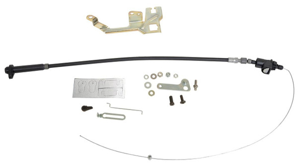 TCI Automotive TV cable corrector kits are the simplest way to ensure correct throttle valve cable adjustment. These easy-to-use cable kits feature durable steel construction and include parts needed for installation with popular 700R4 or 2004R transmissions. No modifications are needed, so the self-adjusting cable can be hooked up without removing the transmission. Kits are available for applications using either Holley or Edelbrock carburetors. Ensure exact shift points and the life span of your transmission with a properly adjusted throttle valve cable and TCI Automotive TV cable corrector kits.